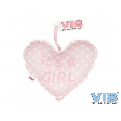 VIB Kussentje Hart It's A Girl roze